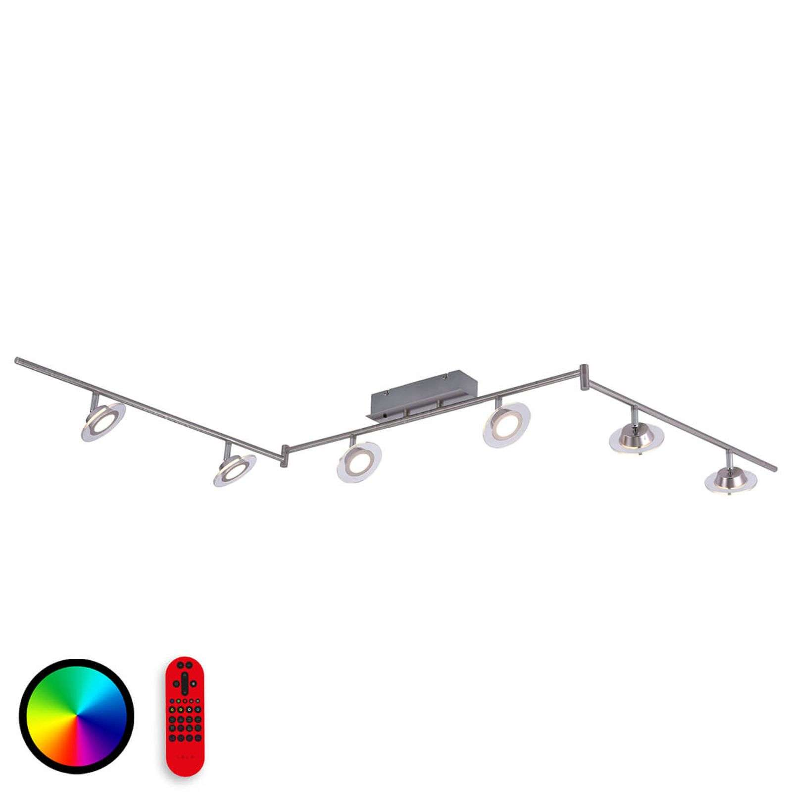 Functionele LED plafondlamp Lola Mike, 6 lamps