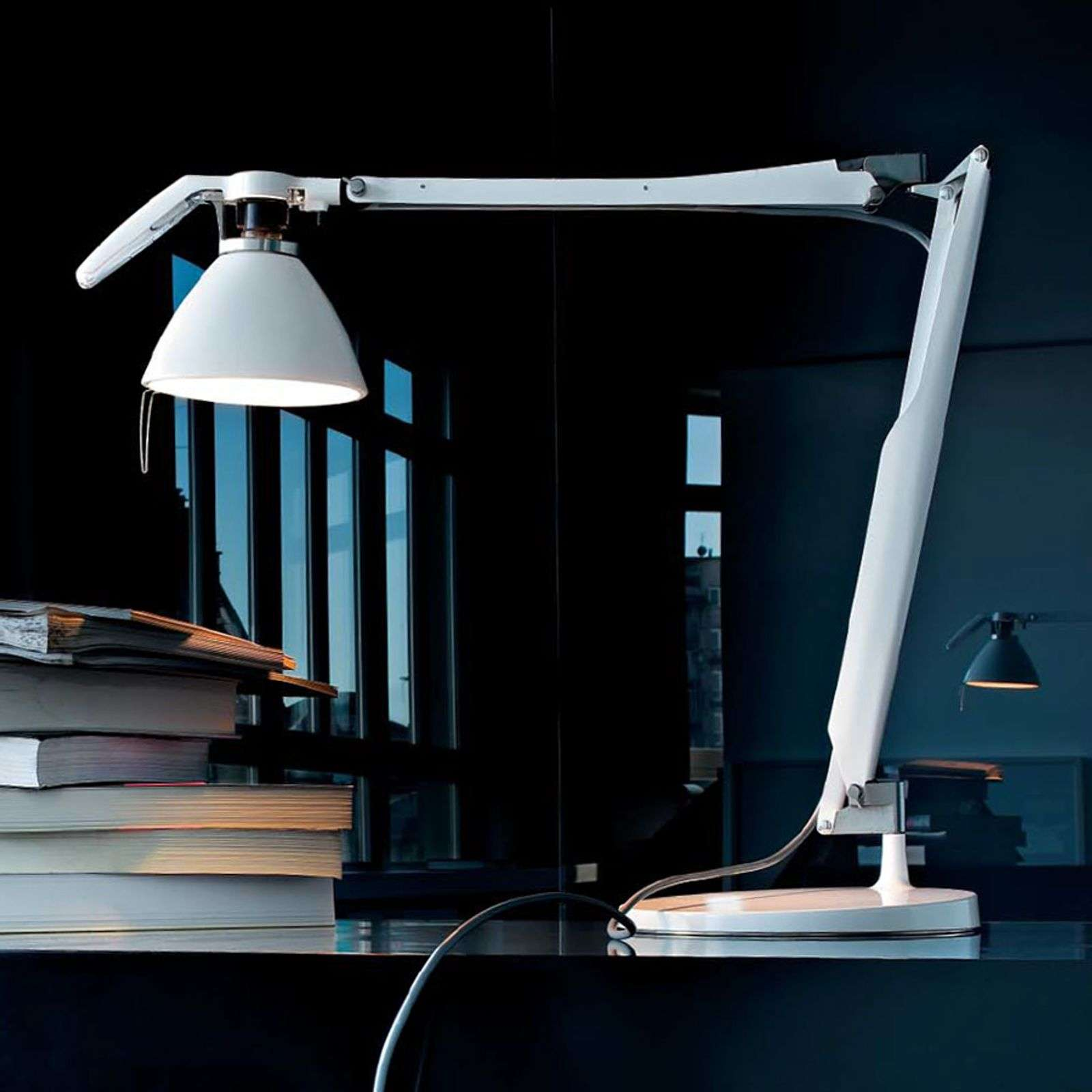 LED bureaulamp Fortebraccio met LED, wit