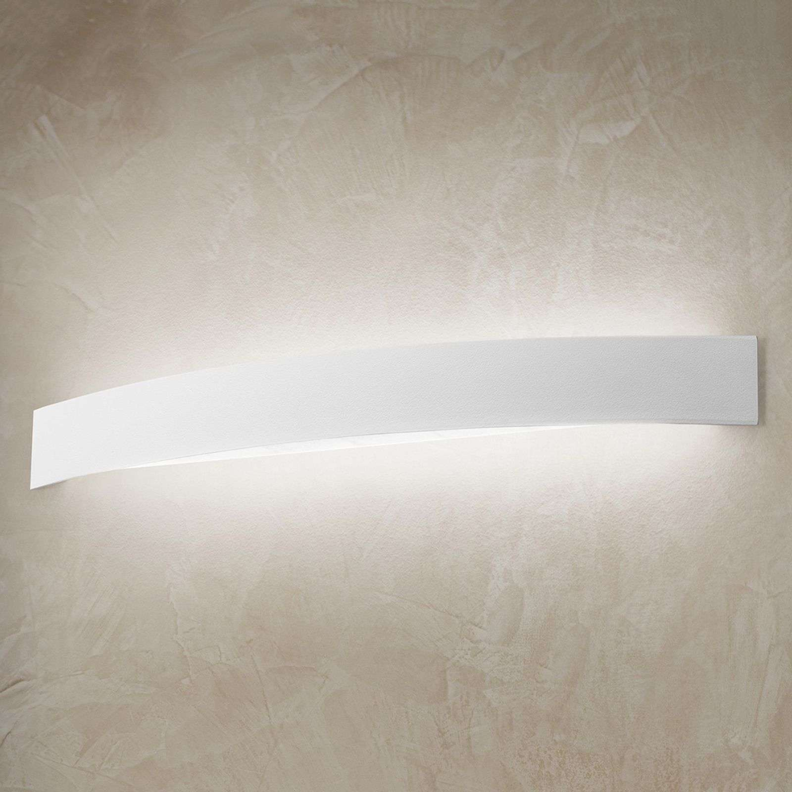 Gebogen LED wandlamp Curve in wit