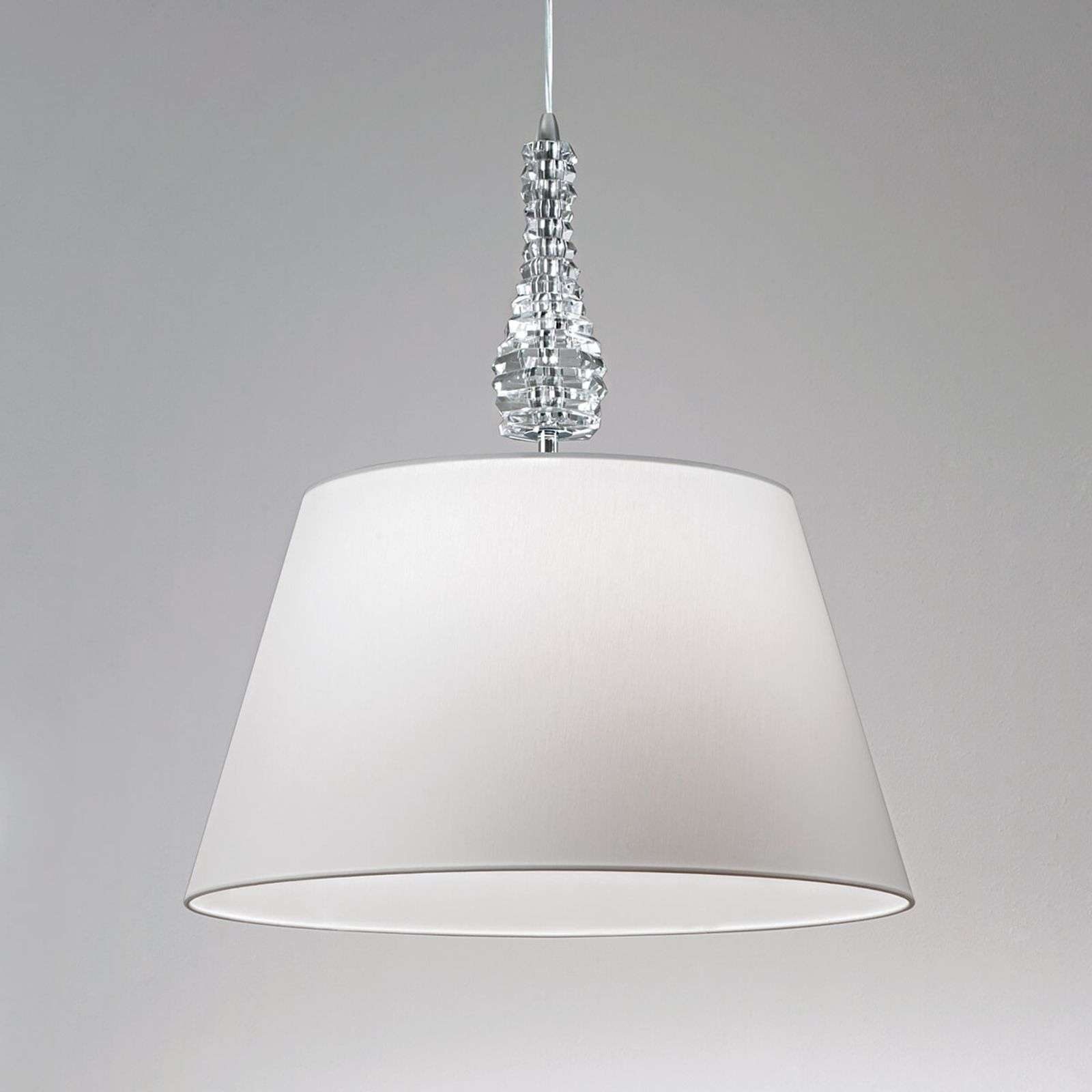 Witte hanglamp Crystal wit