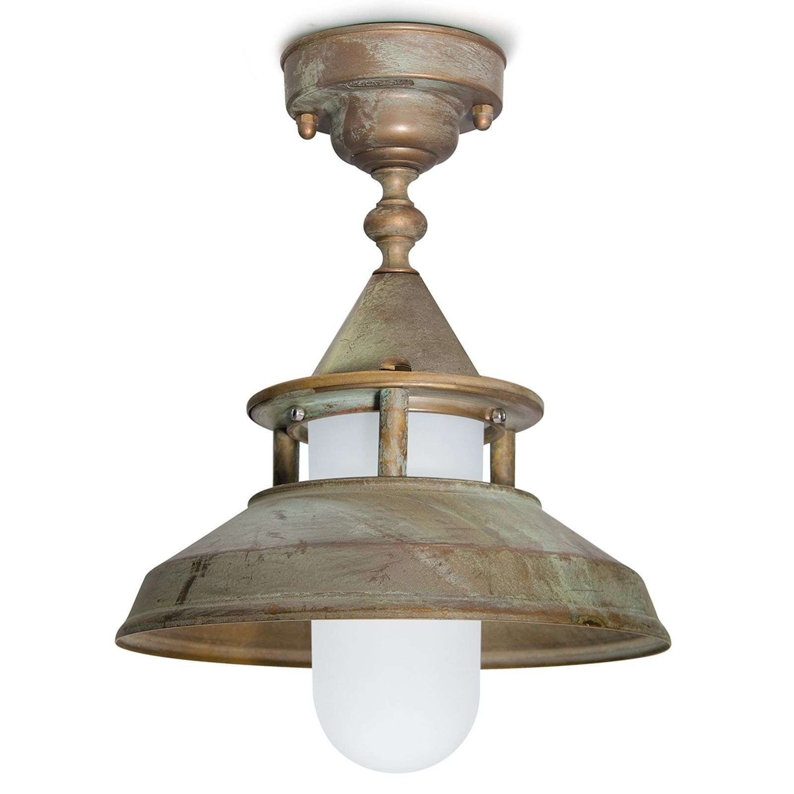 Plafondlamp Antique antiekfinish zeewaterbestendig