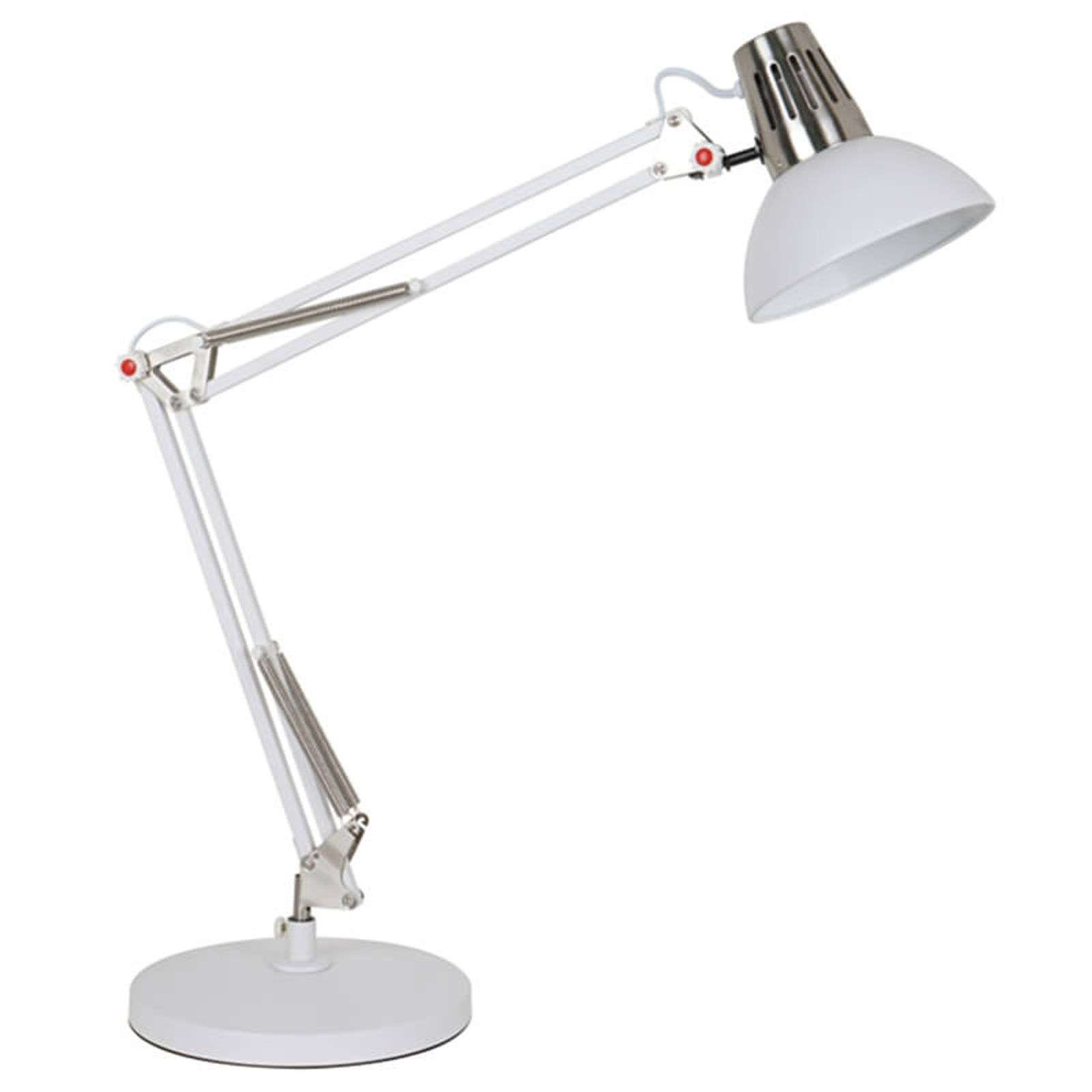 Functionele bureaulamp Rudy in wit