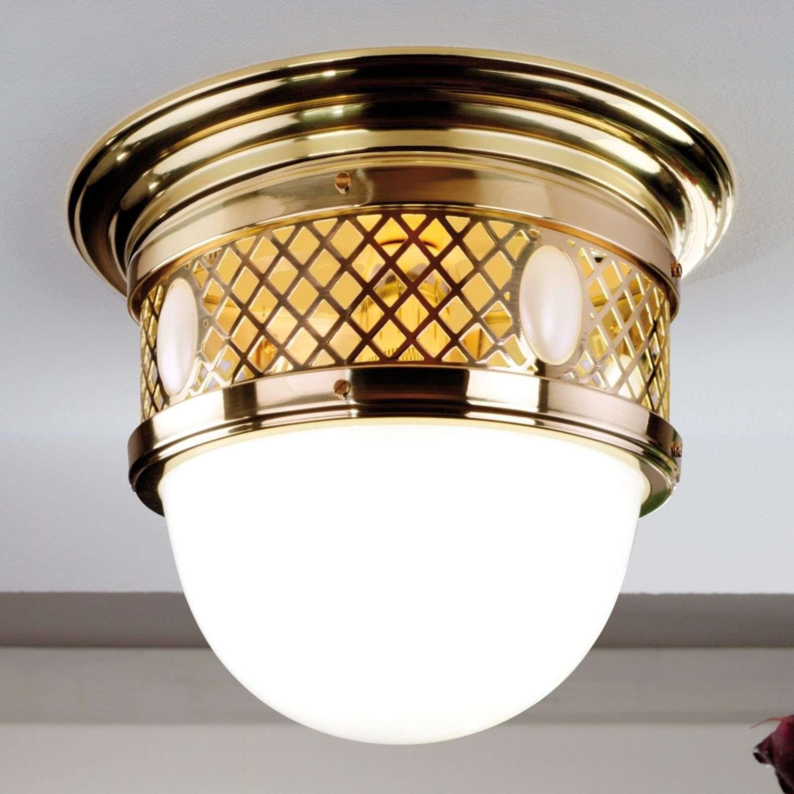 Messing plafondlamp ALT WIEN in Jugendstil-design