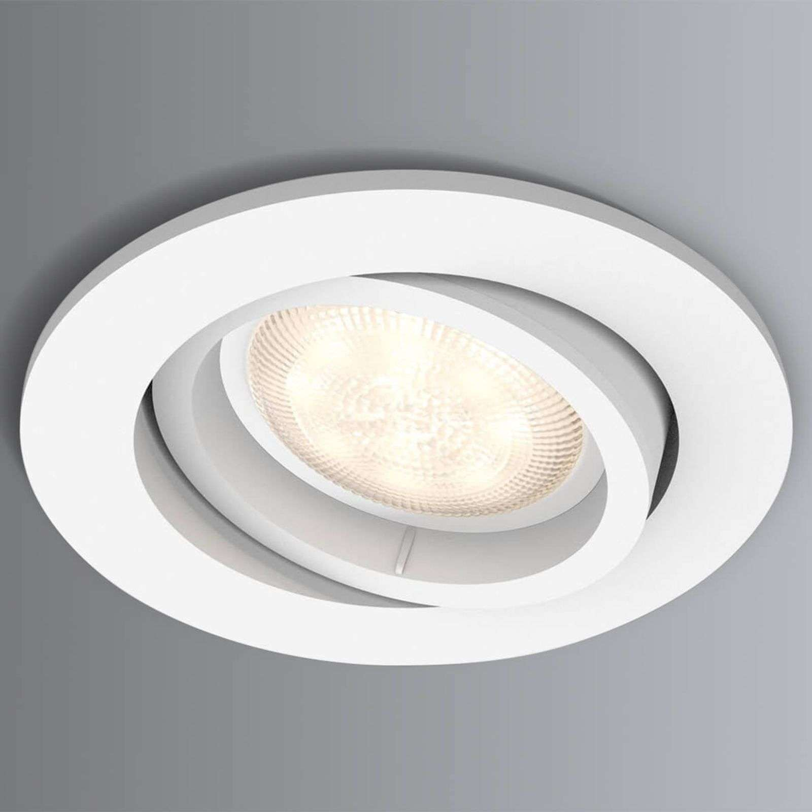 LED inbouwspot Shellbark met Warmglow effect, wit