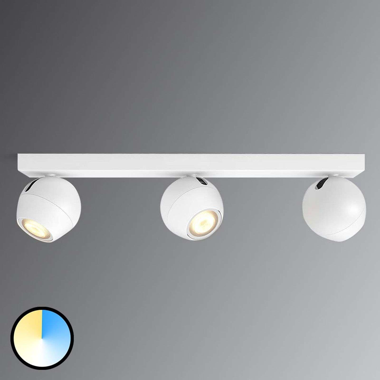 Buckram -.Philips Hue LED spot wit met 3 lampen