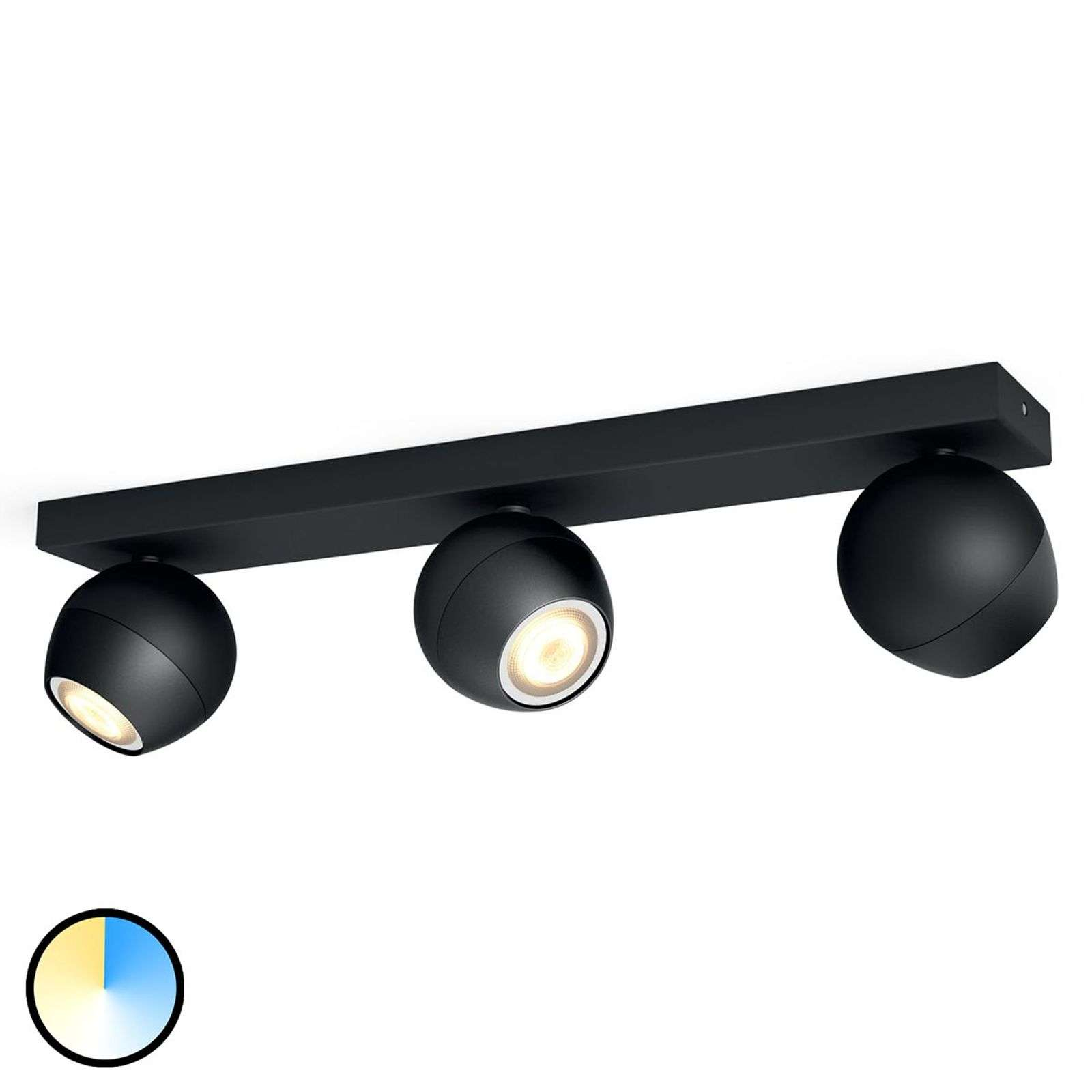 Buckram - Philips Hue LED spot 3 lampen in zwart