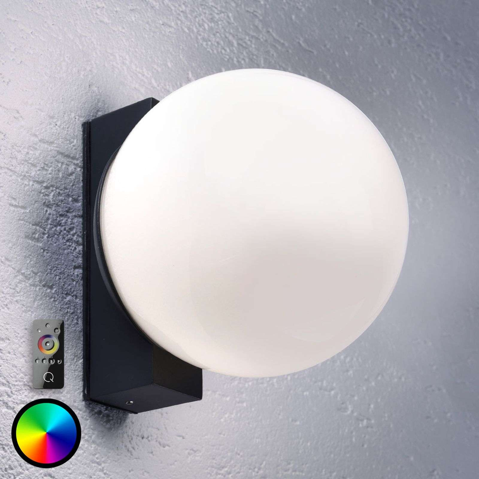 Paul Neuhaus Q-LINO LED wandlamp, antraciet