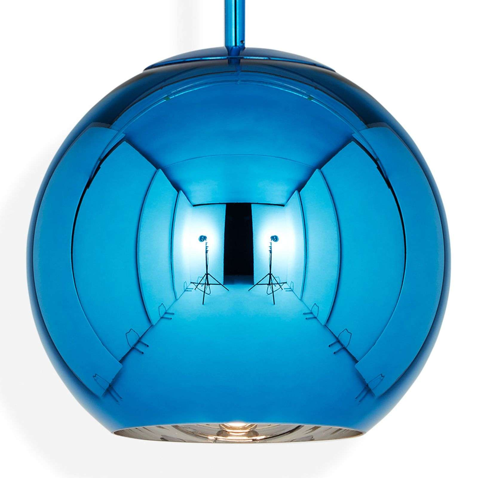 Tom Dixon Copper Round 25 - hanglamp blauw