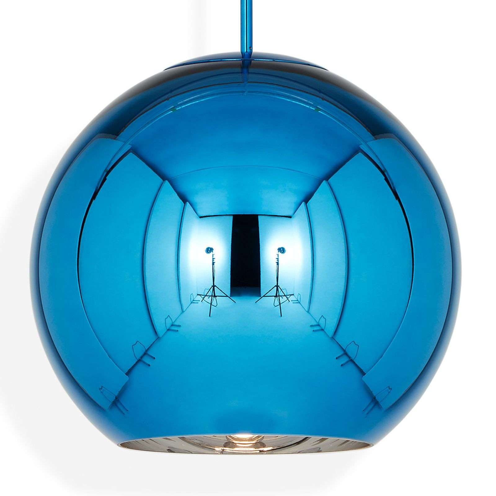 Tom Dixon Copper Round 45 - hanglamp blauw