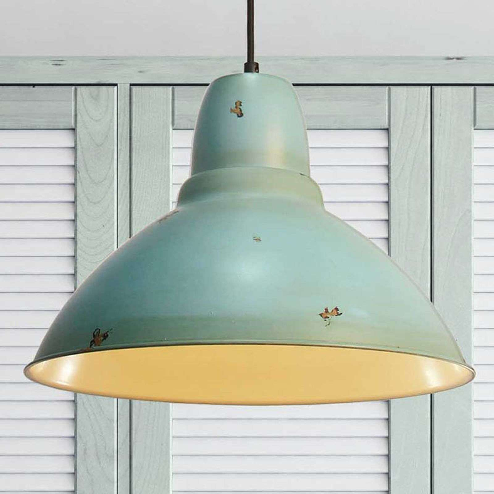 In vintage design - hanglamp Levi in turkoois