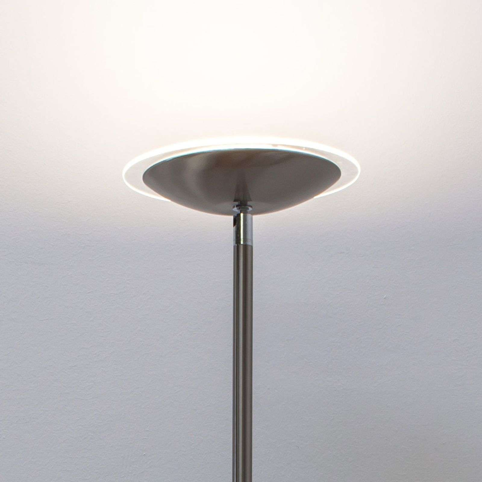Malea LED uplighter, mat nikkel