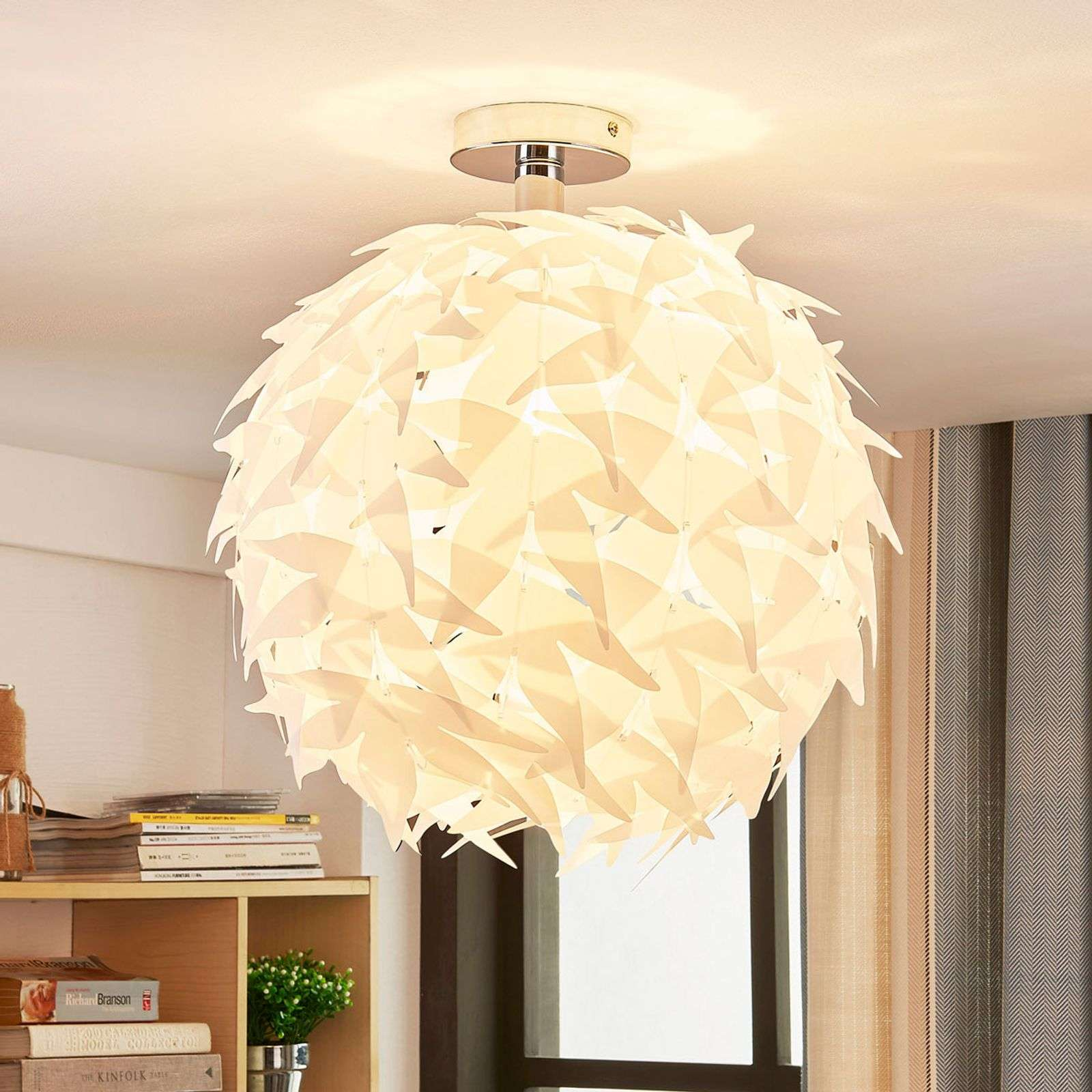 Corin - witte plafondlamp in trendy look