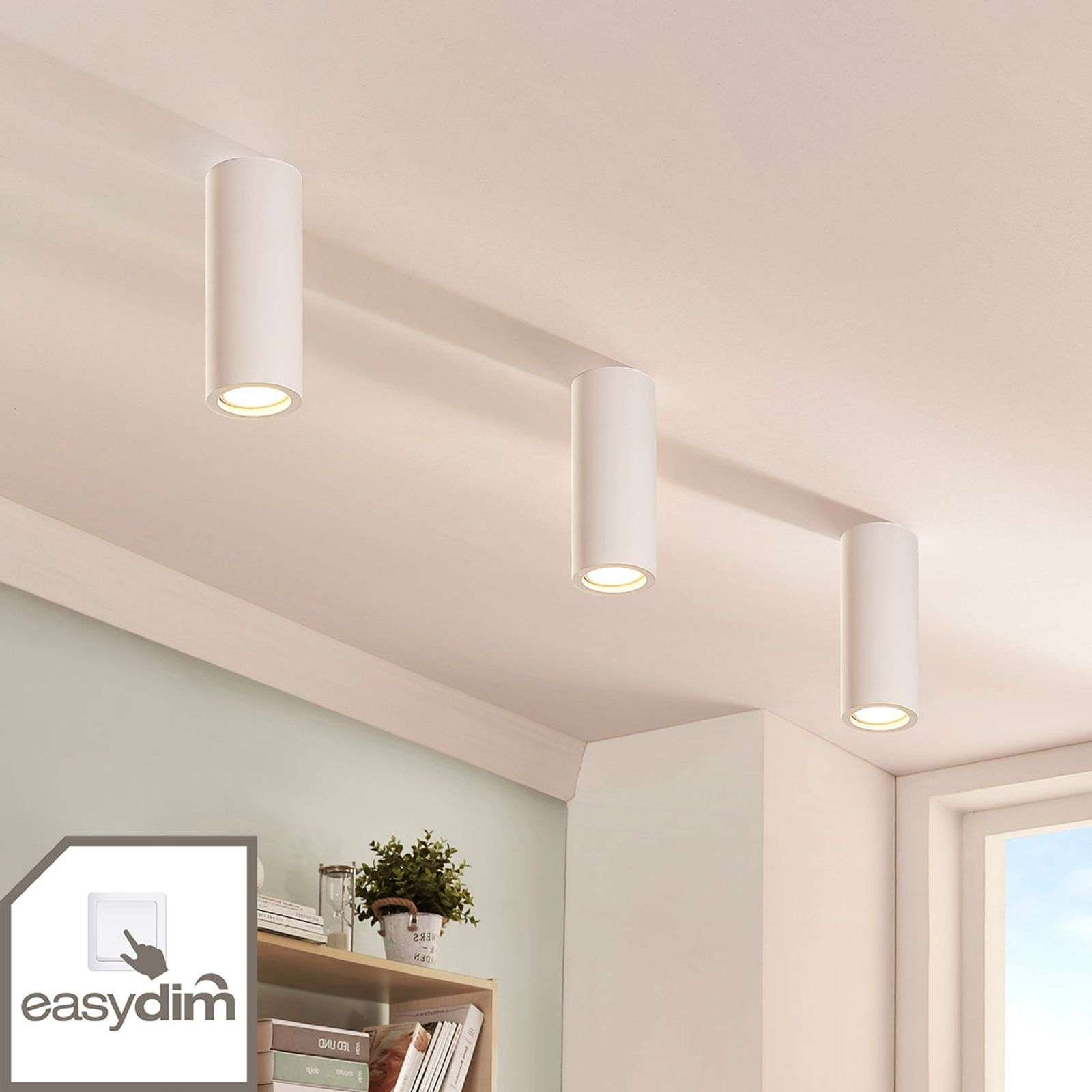 Gips downlight Annelies met easydim LED lamp