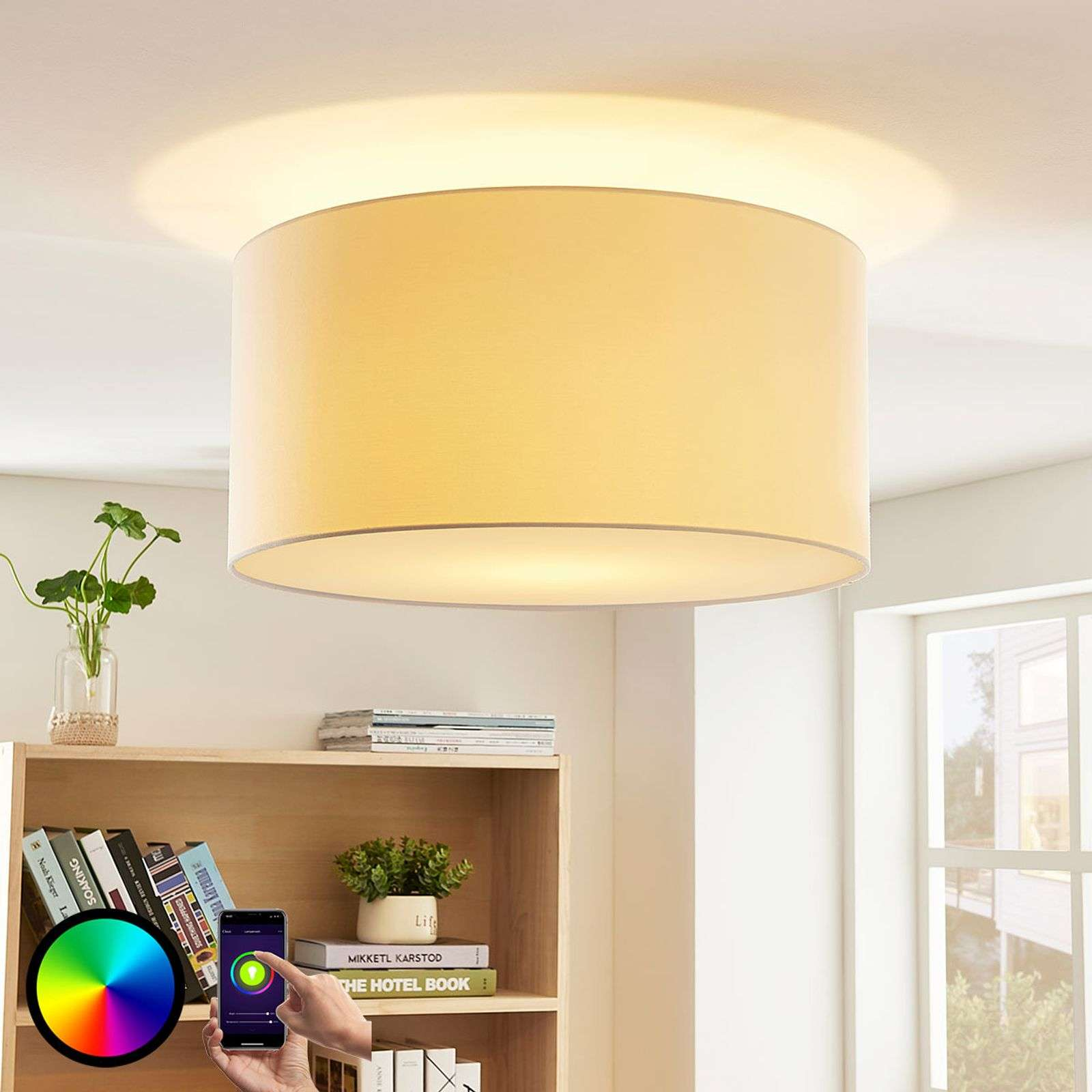 Lindby Smart RGB-LED plafondlamp Everly voor app