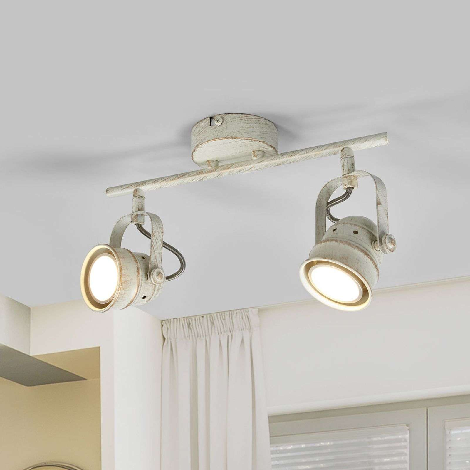 2.lamps LED plafondlamp Leonor in wit