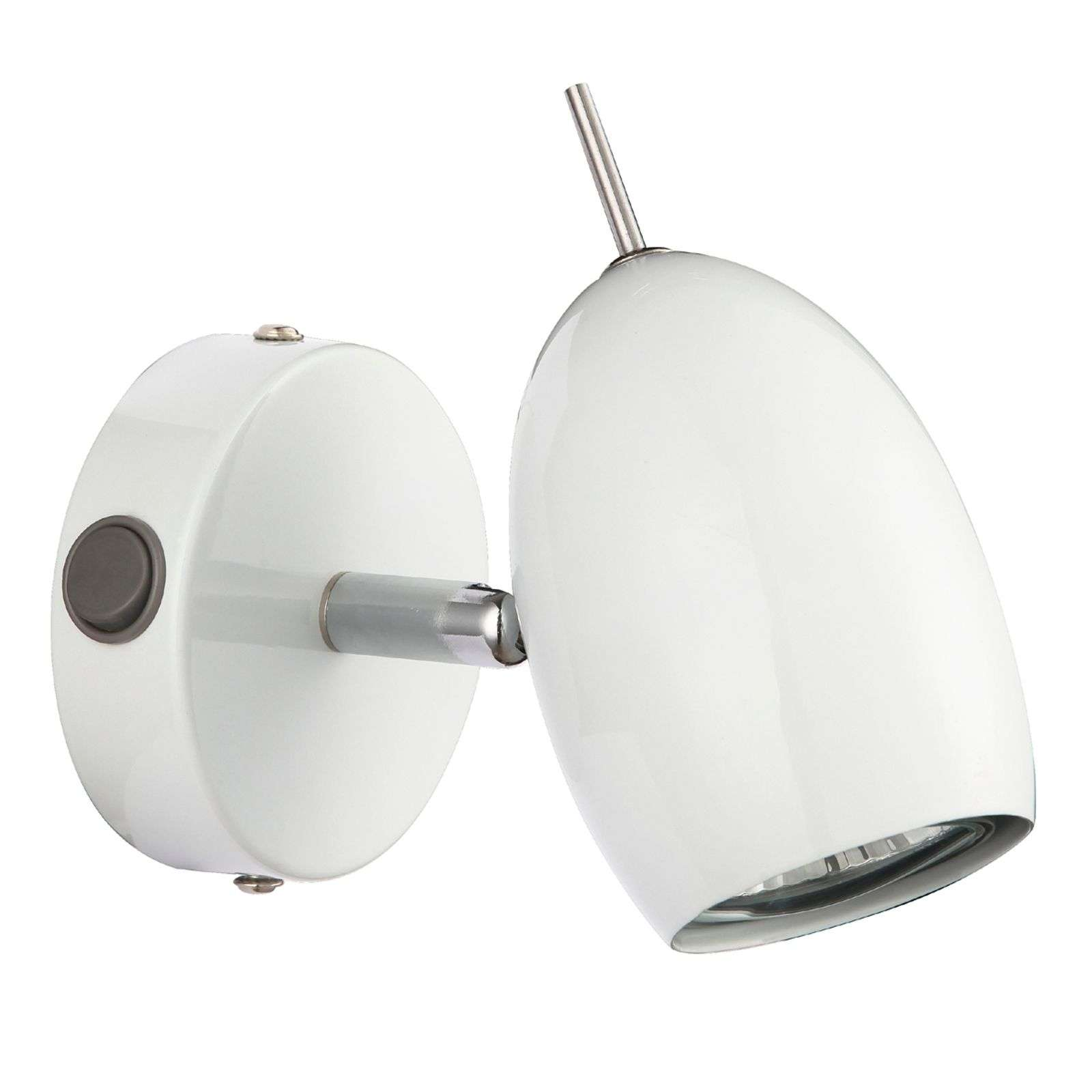 Ideale LED-wandlamp QUINCY, wit
