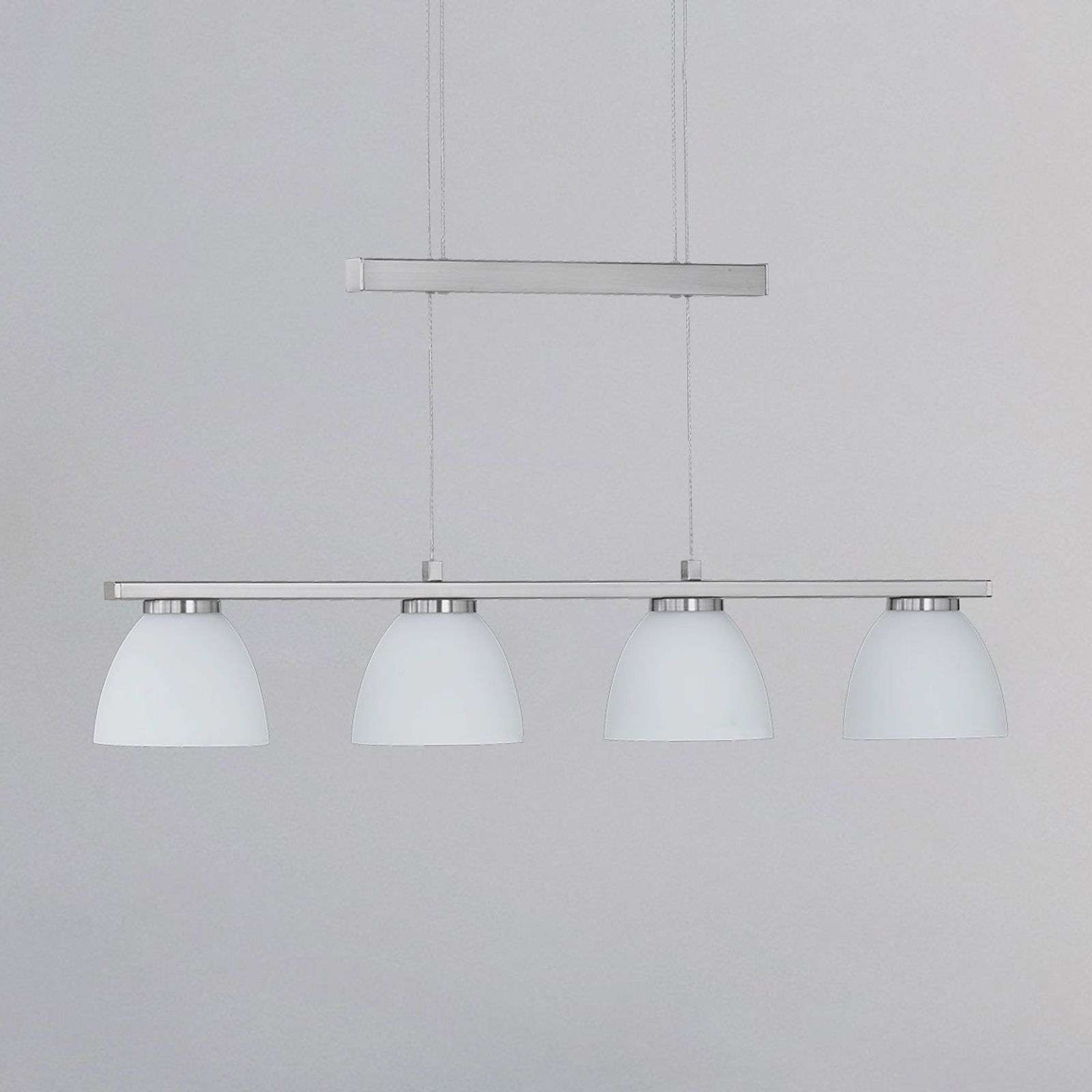 Dimbare LED-hanglamp Ava, 4-lichts