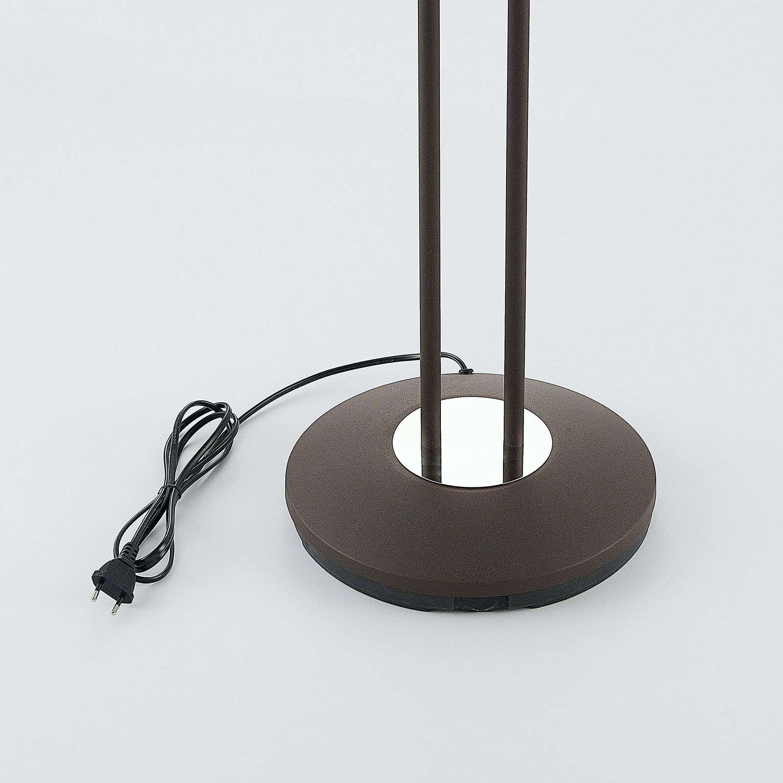 LED uplighter Dimitra m. leeslamp, roest