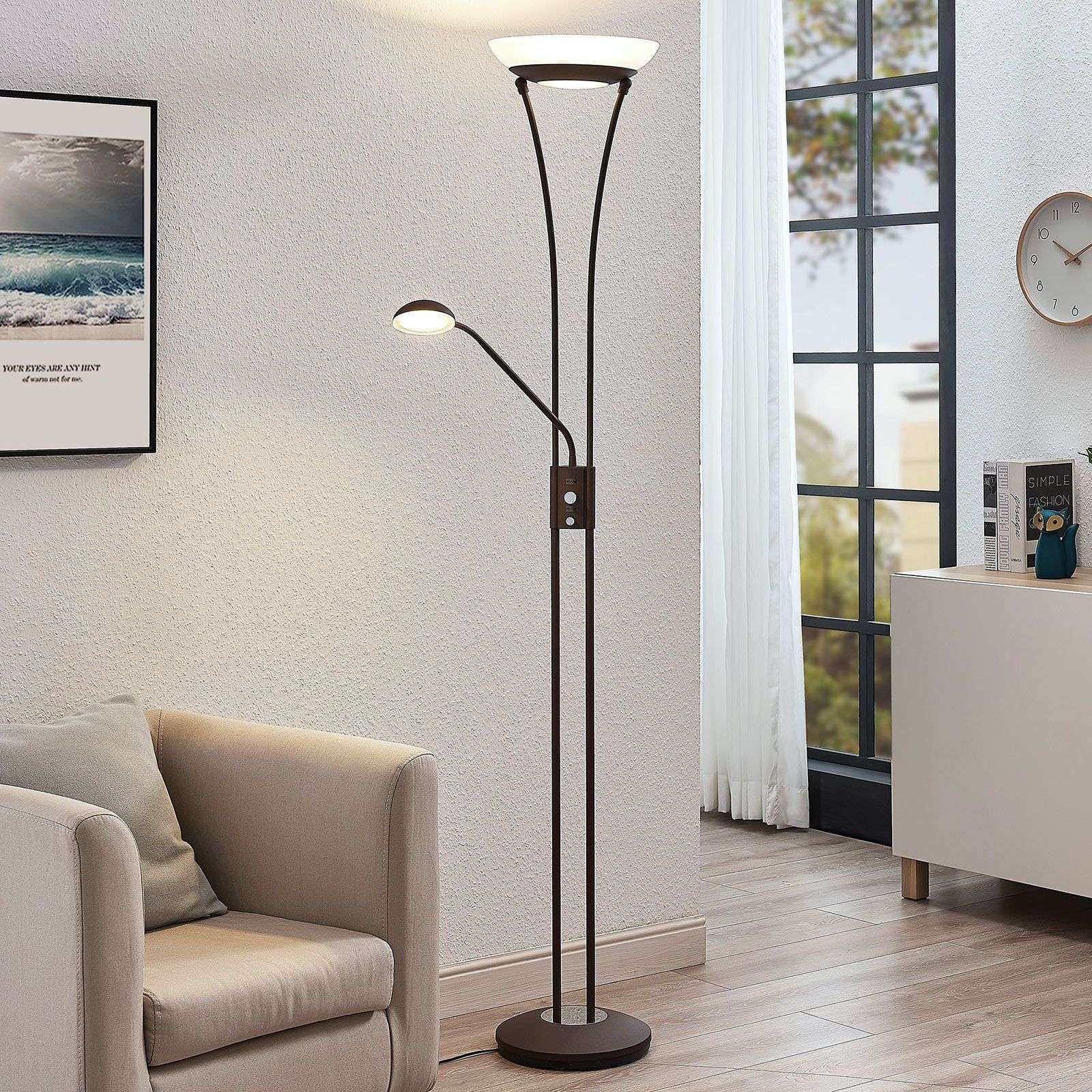 LED uplighter Amadou m. leeslamp, roest