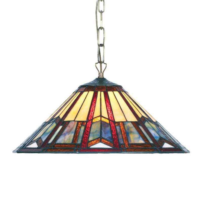 Hanglamp LILLIE in Tiffany-stijl