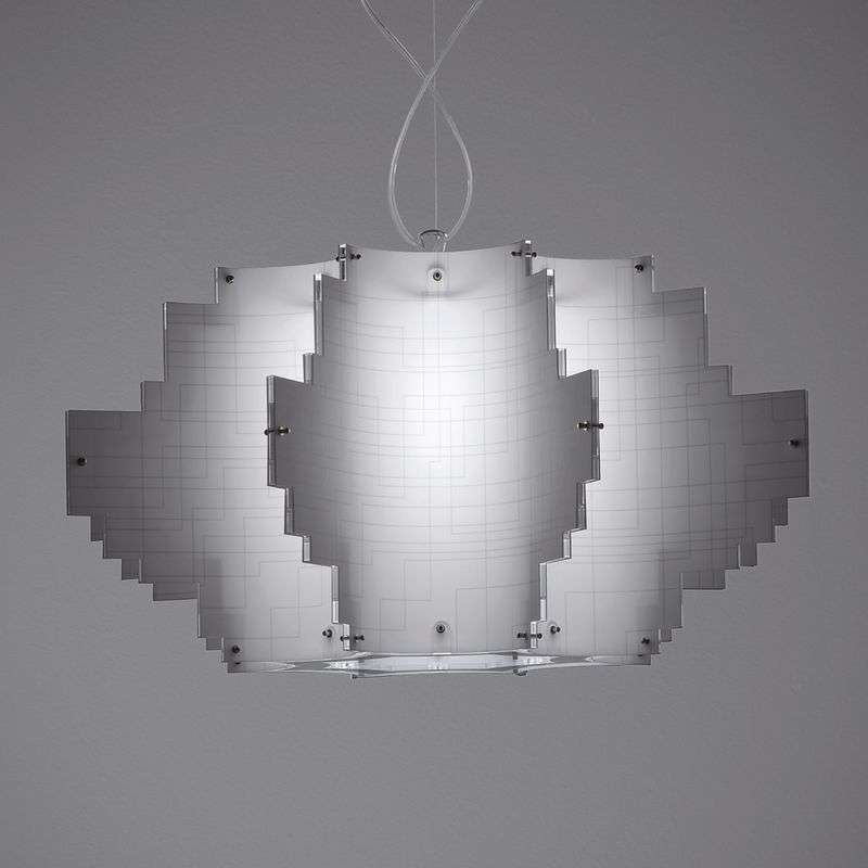 Design-hanglamp Nuvola, wit