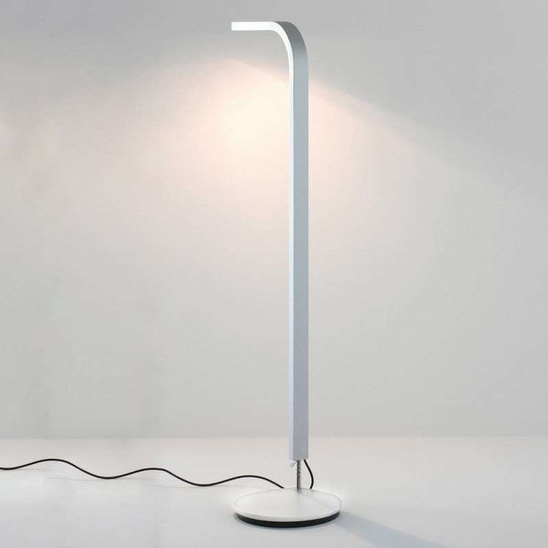 Moderne design LED vloerlamp Lee, wit