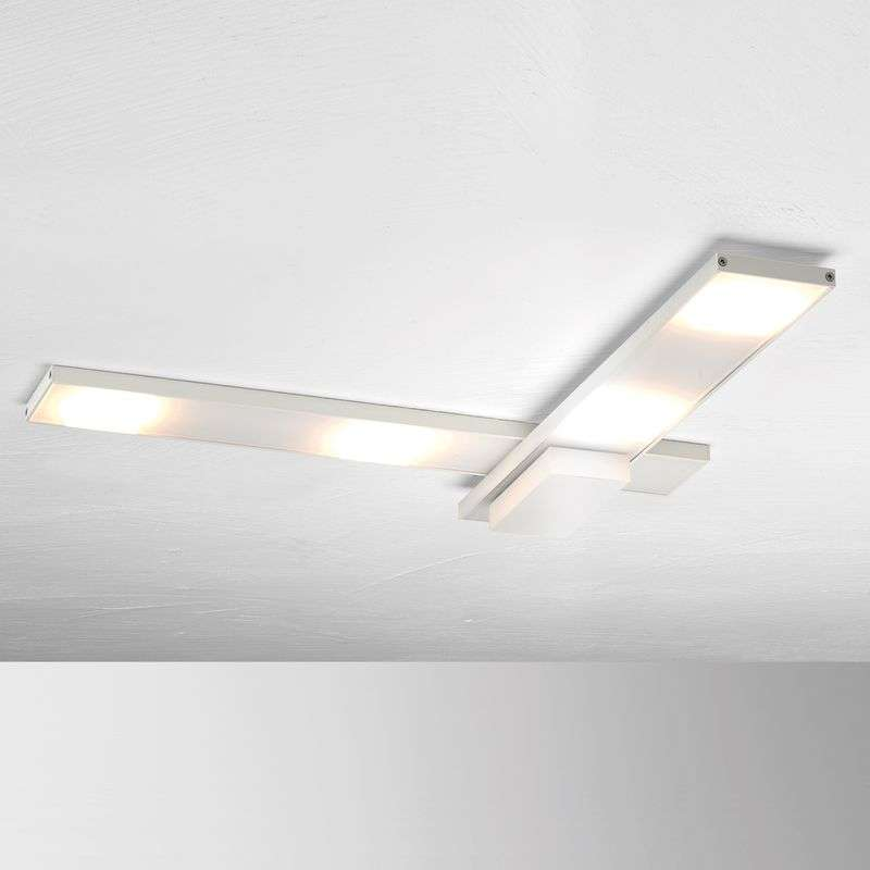 Geraffineerde LED plafondlamp Slight, wit