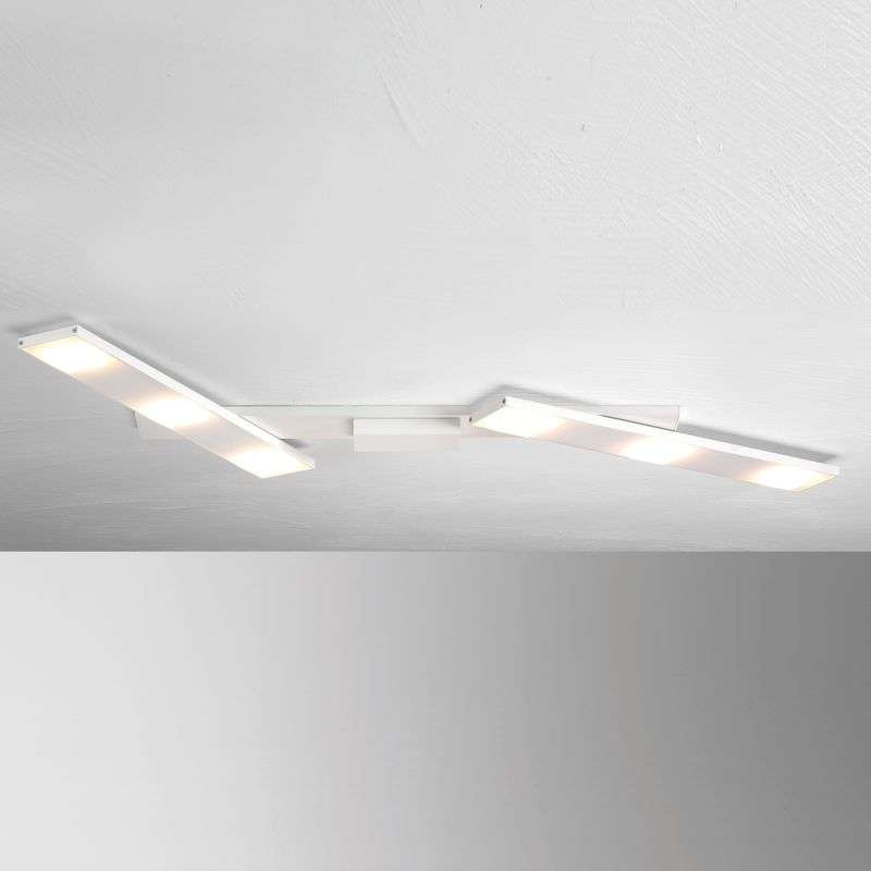 Zwenkbare LED plafondlamp Slight, wit