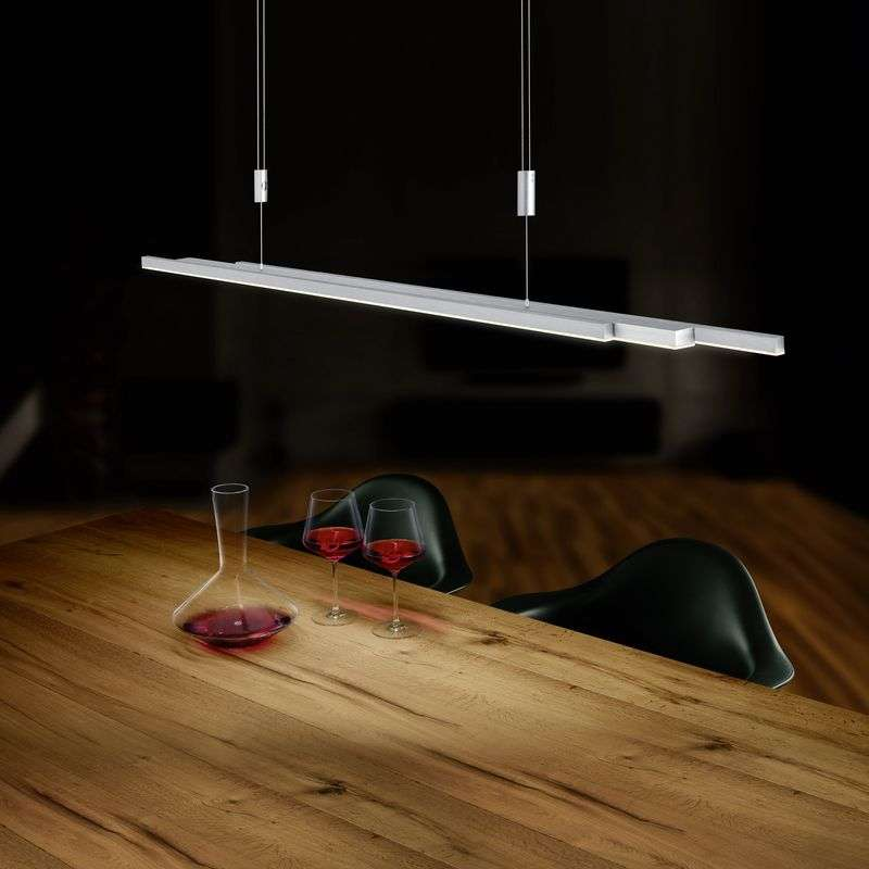 BANKAMP L-lightLINE LED-hanglamp, nikkel mat