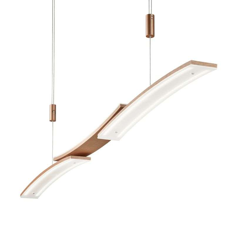 BANKAMP 2138/3-74 LED hanglamp, rose-goud