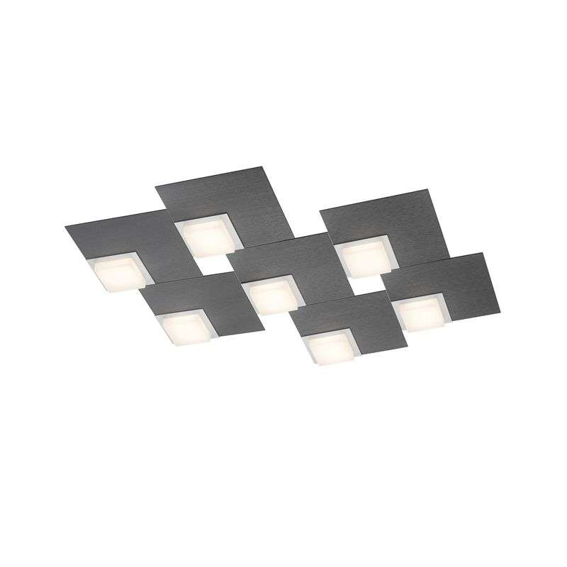 BANKAMP Quadro LED-plafondlamp 64 W antraciet