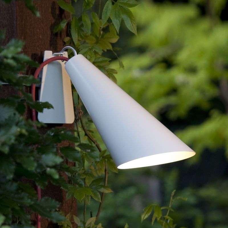 Originele buitenlamp Pit Out met band, wit