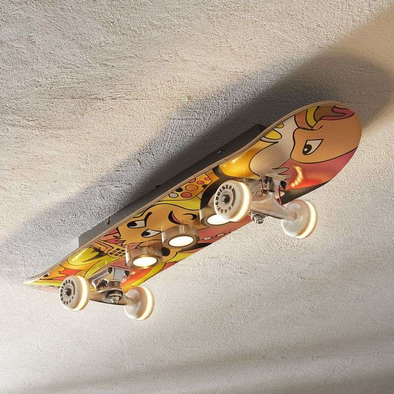 Plafondlamp LED Easy cruiser met skateboard look