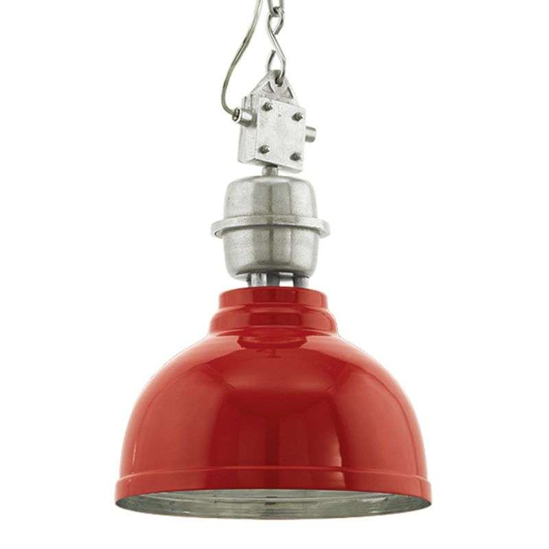 Industrie-hanglamp Grantham in rood