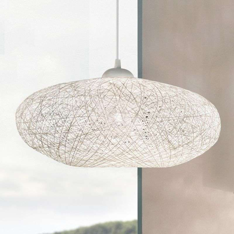 Textiele witte hanglamp Campilo