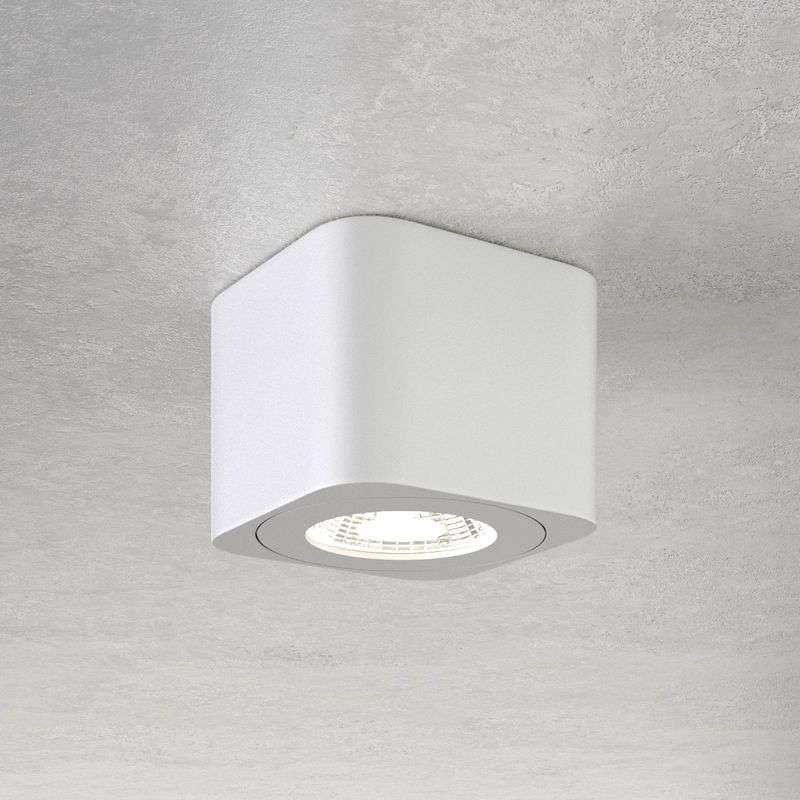 Vierkant LED downlight Palmi in wit