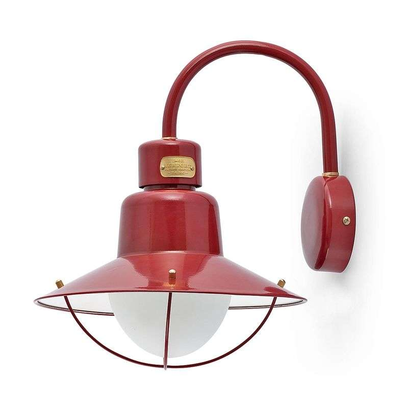 Decoratieve outdoor wandlamp Newport bordeaux