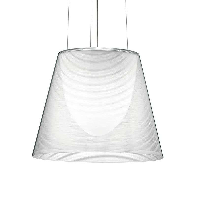 Hedendaagse hanglamp KTRIBE S2, transparant