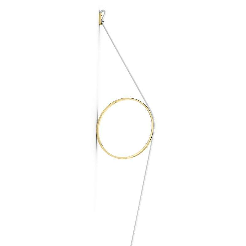 FLOS Wirering wit LED wandlamp, Ring goud