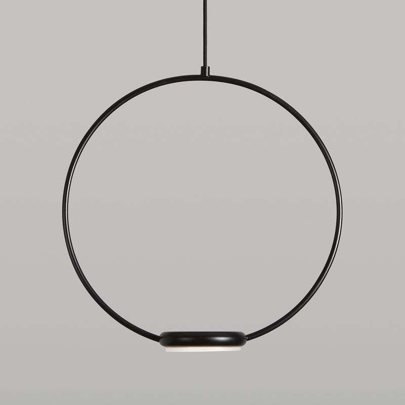 LED hanglamp Odigiotto in zwart