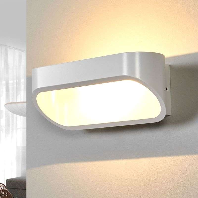 Mooie LED-wandlamp ONNO in mat wit