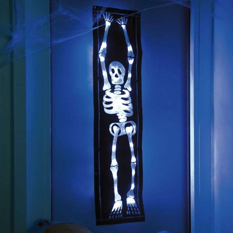 Decoratieve led-folie SKELETT voor Halloween