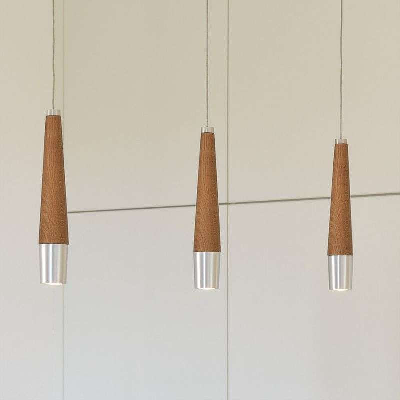 Dimbare LED hanglamp Conico - drie lampen