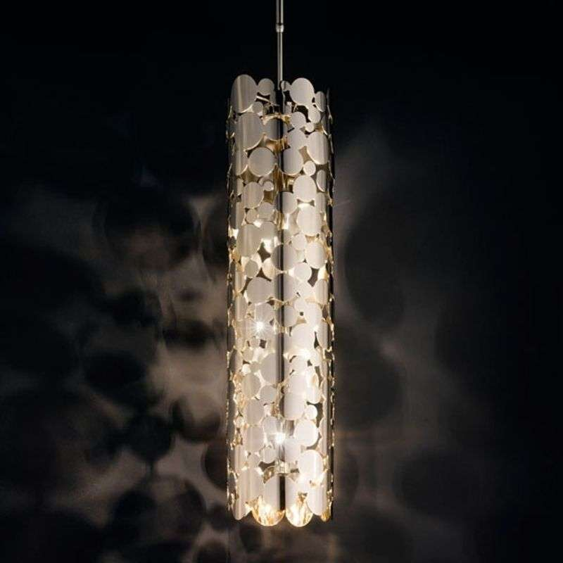 Interessante hanglamp BUBBLES, chroom