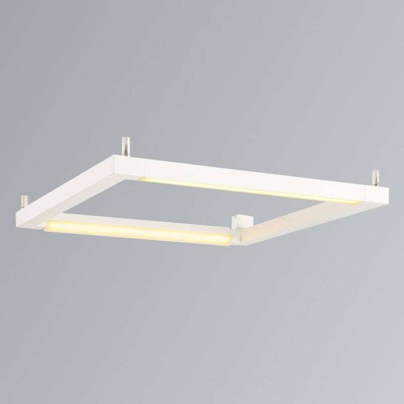 Witte LED plafondlamp Open Grill
