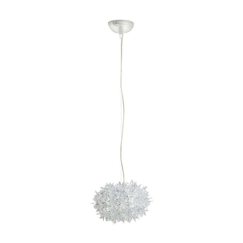 Transparante LED design hanglamp Bloom, 28 cm