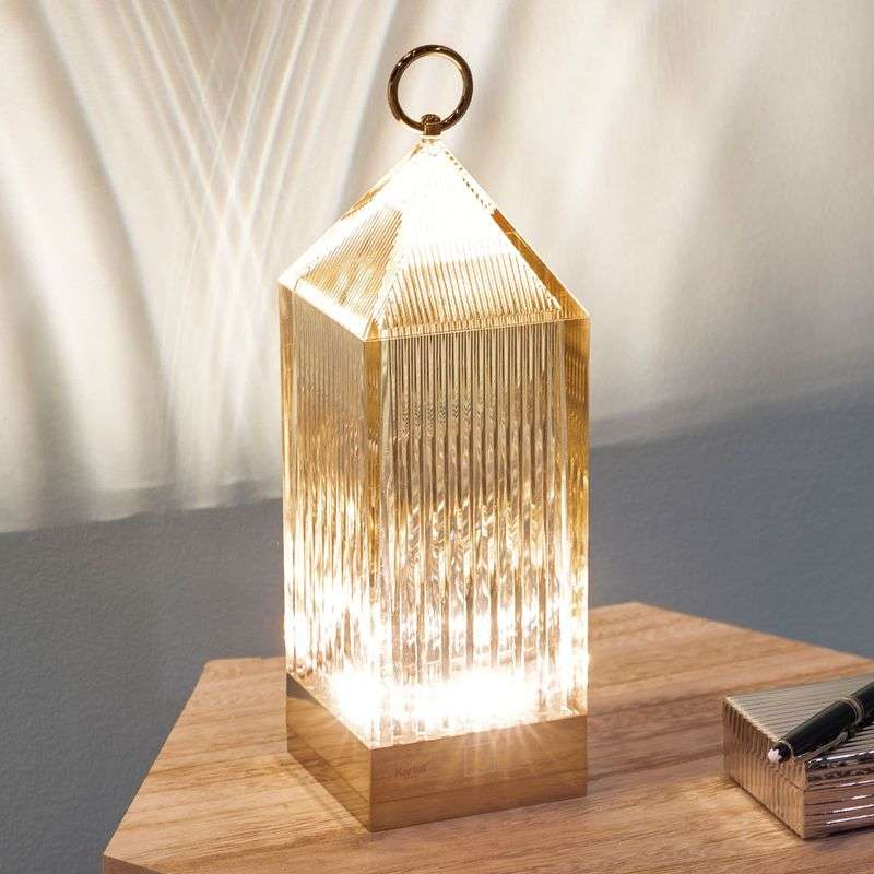 Kartell Lantern LED tafellamp, amber IP54