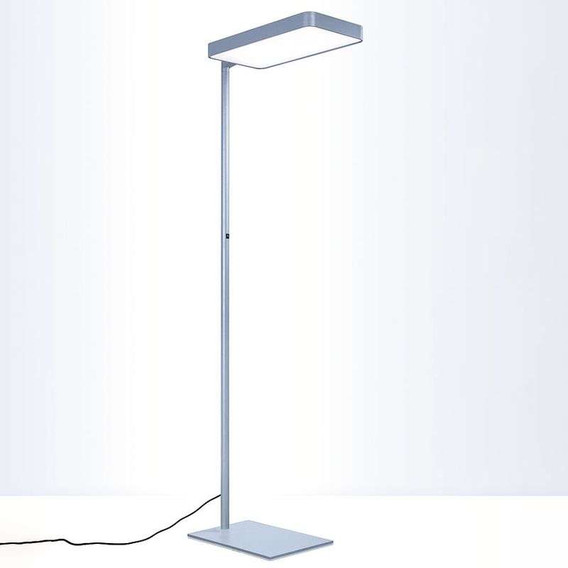 Zilveren led bureaulamp Caleo S2 Switch & Dim