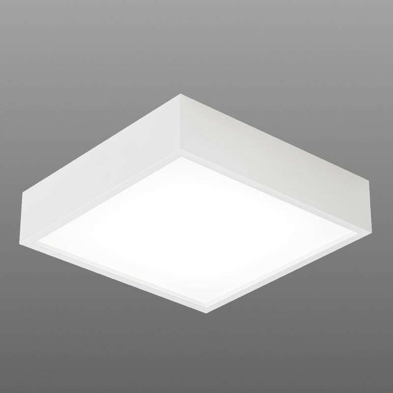 Felle plafondlamp MODUL SQ Led wit