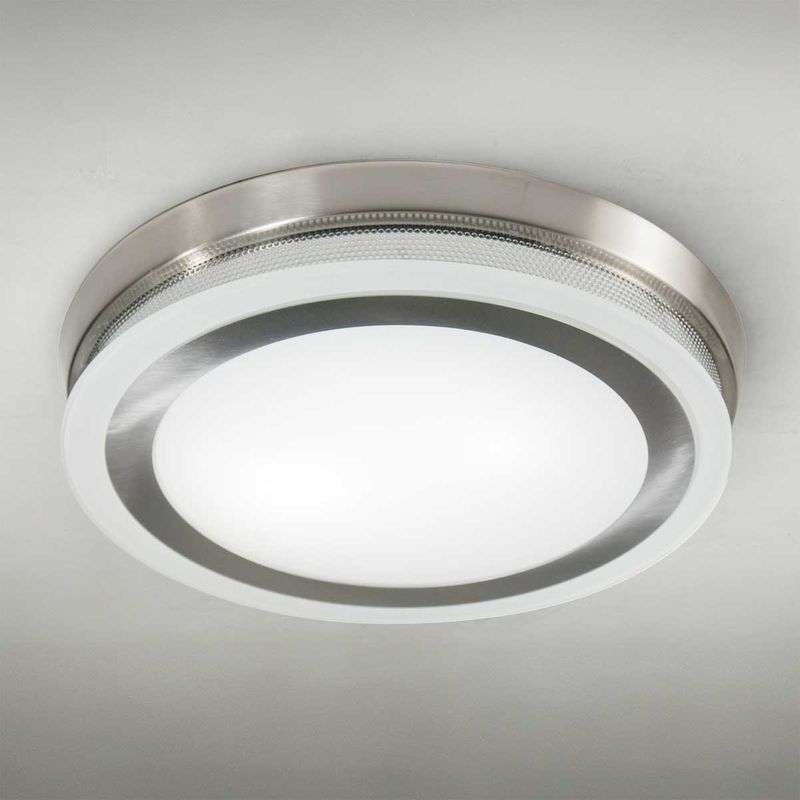 Ronde plafondlamp RING 9115, 43 cm, staal